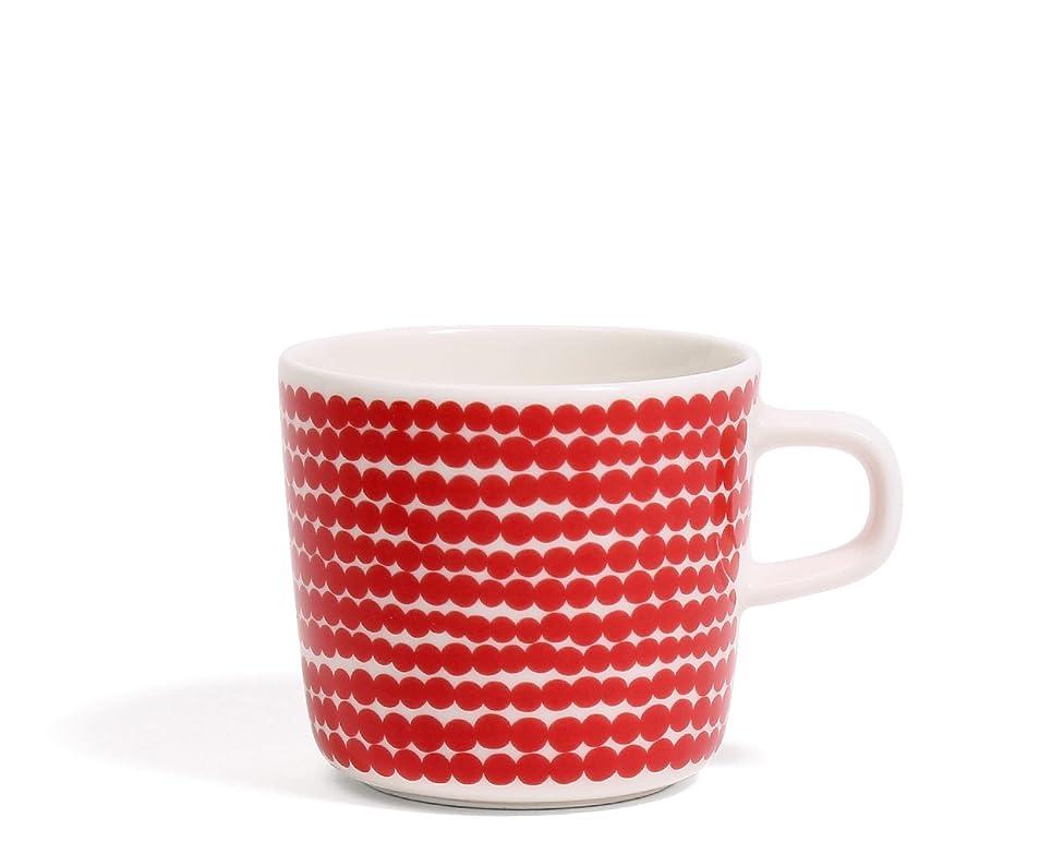 ナチュラルたっぷり急性マリメッコ(marimekko) ウニッコ UNIKKO 63429 コーヒーカップ 200ml レッド [並行輸入品]