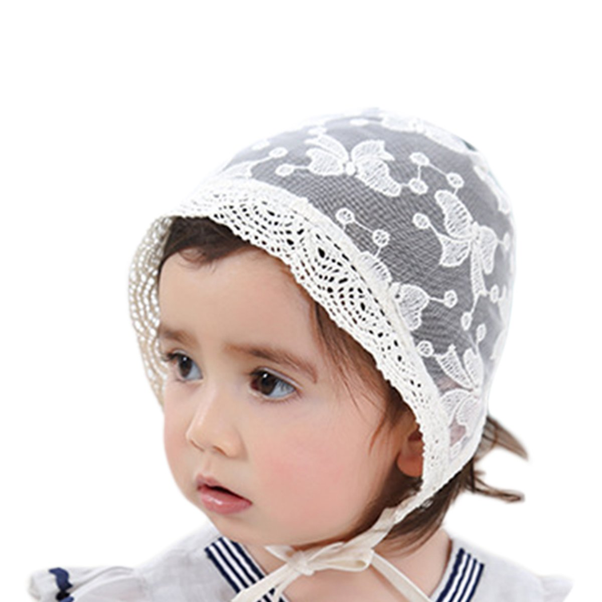 Babys Bonnet, Aniwon Kids Sun Cap Breathable Sun Protection Hat Summer Travel Hat with Bowknot Flower Decor