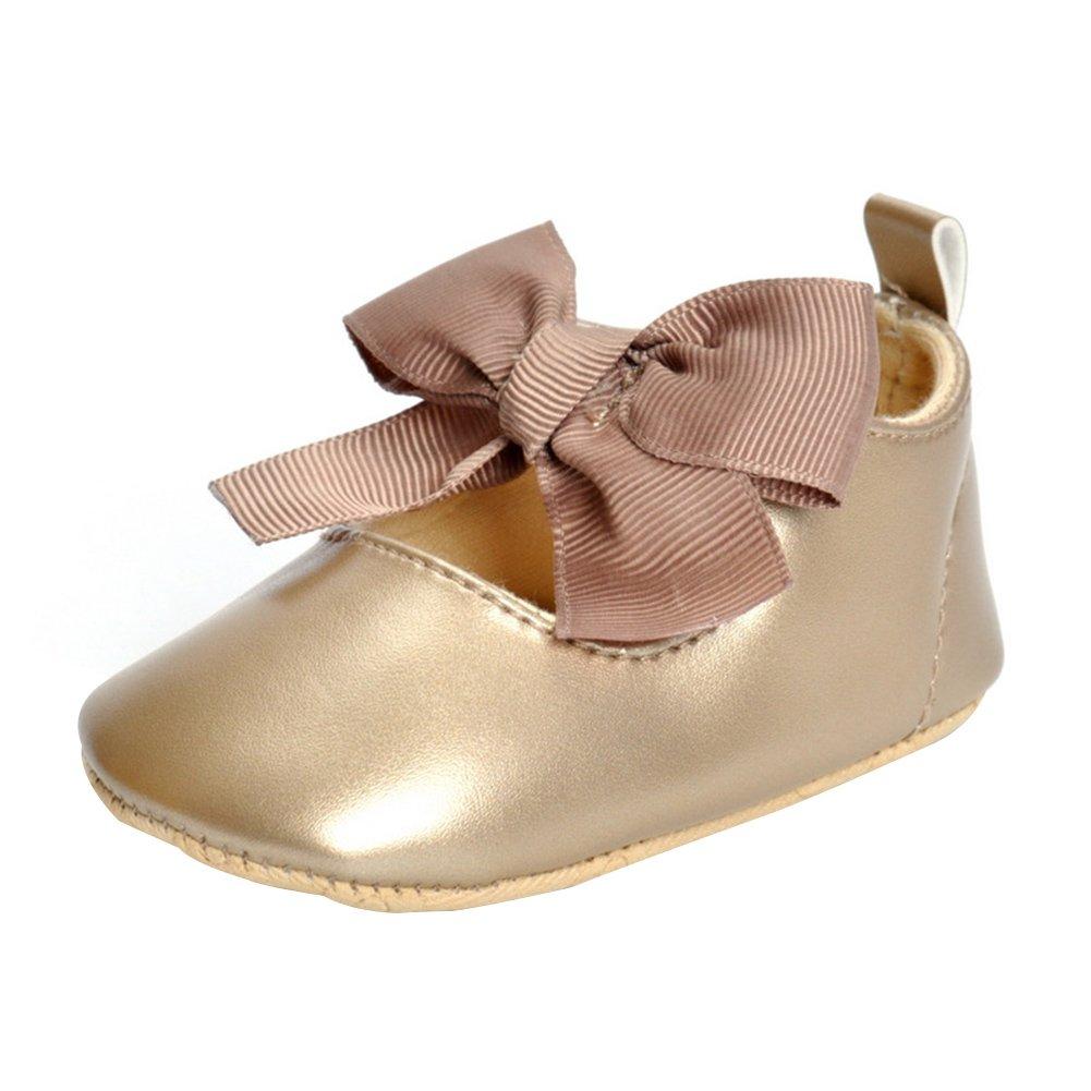 Free Fisher Zapato de Primer Paso Diseño con Lazo Sandalias de Bebé-Niña Zapatillas para Boda Bautizo Ceremonia