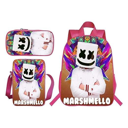 jhmlf Mochila para Niños Impresión 3D Modelo Smiley Bolsa De ...