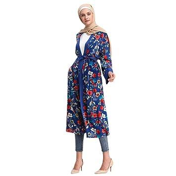 b3b1a739ee Amazon.com: Women's Plus Size Long Sleeve Floral Print Maxi Dress ...
