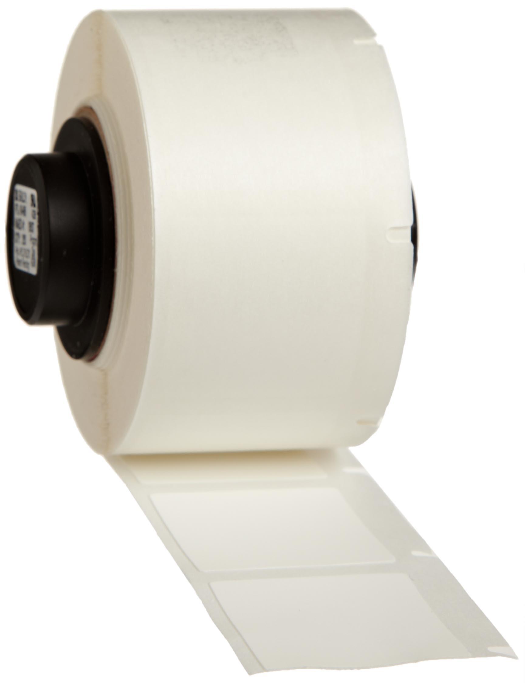 Brady PTL-19-499 TLS 2200 And TLS PC Link 1'' Height, 1'' Width, B-499 Nylon Cloth White Color Label (250 Per Roll)