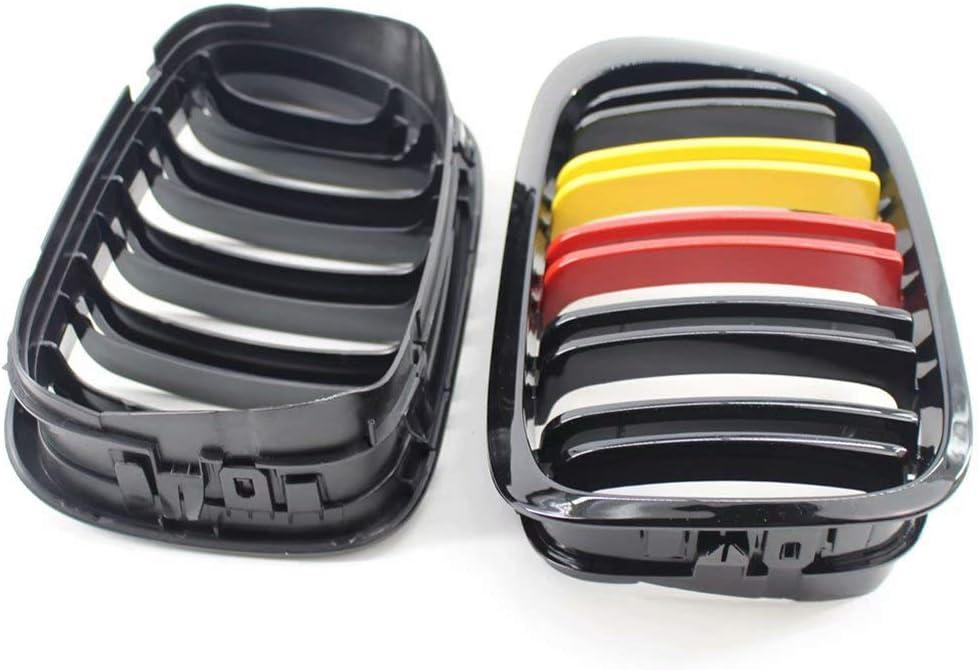 Compatible con BMW E46 320Ci 325Ci 330Ci M3 1999-2002 ABS Moldura de la Cubierta de la Parrilla del Marco del Parachoques Delantero Tricolor LY-QCYP Parrilla Delantera para ri/ñ/ón