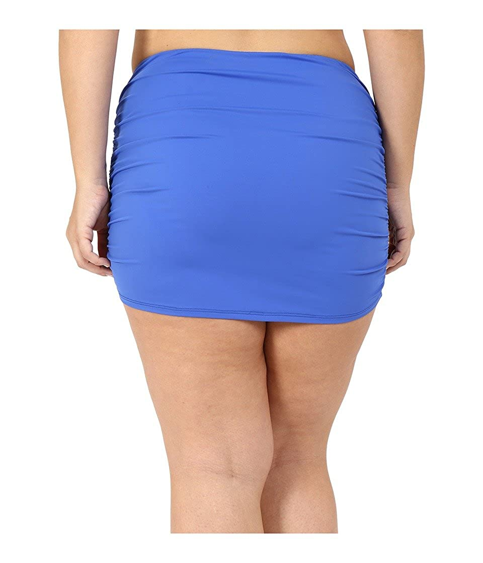 253378ab94 Amazon.com: Lauren Ralph Lauren Women's Plus Size Beach Club Solids Ultra High  Waisted Skirted Periwinkle Swimsuit Bottoms: Clothing