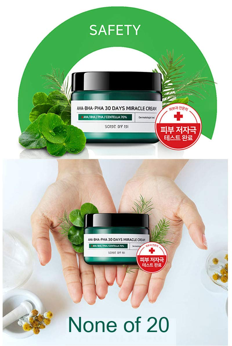 Somebymi Aha Bha Pha Miracle Cream 50ml 17oz Skin 30 Days Cleansing Bar 106g Some By Mi Me Barrier Recovery Soothing With Tea Tree 10000ppm For Wrinkle Whitening Care Last Of