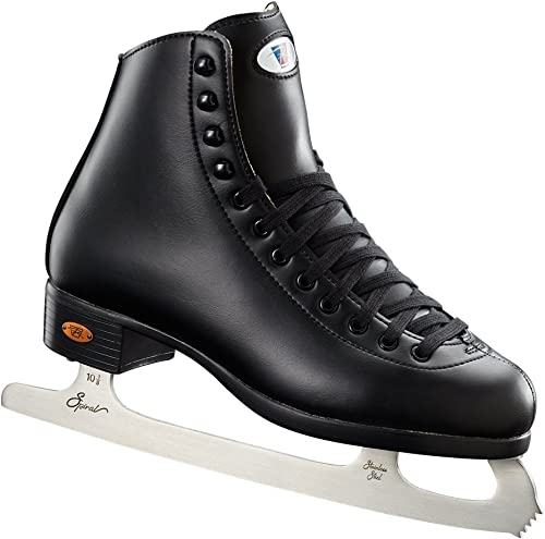 Riedell Skates – 110 Opal – Recreational Ice Skates with Stainless Steel Spiral Blade for Men