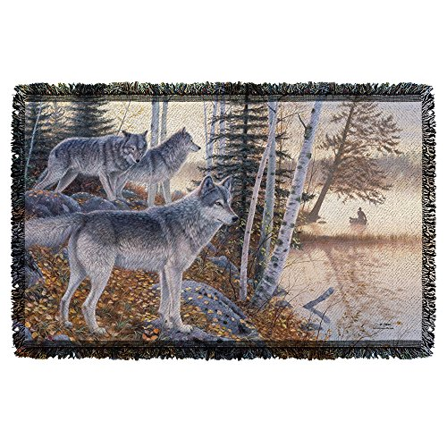 WILD WINGS SILENT TRAVELERS 2 Sublimation Woven Throw