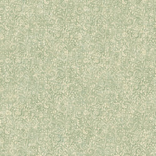 Waverly 5510803 Prelude Damask Wallpaper, Teal, 20.5-Inch Wide