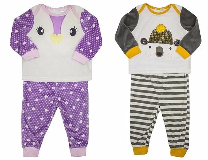 De-branded - Pijamas enteros - para bebé niña marrón Soportar