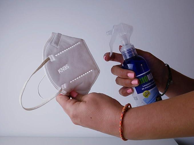 BIOMASK - Spray limpiador instantáneo de mascarillas. Aerosol ...