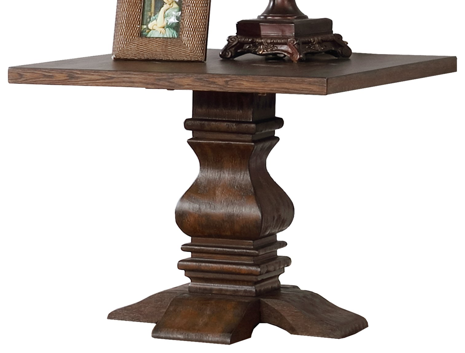 Best Quality Furniture CT421 Walnut End Table by Best Quality
