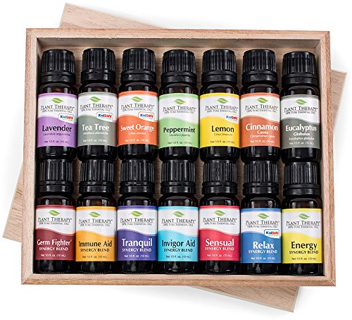 14 Essential Oil Set (7 Synergies and 7 Singles) Includes 100% Pure, 10 ml each.