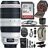Canon EF 100-400mm f/4.5-5.6L IS II USM Lens + Sandisk 64GB + Ritz Gear USB Reader/Writer + 72 Monopod + Polaroid Optics 77mm 4 Piece Filter Set Kit + Polaroid Accessory Bundle