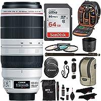 Canon EF 100-400mm f/4.5-5.6L IS II USM Lens + Sandisk 64GB + Ritz Gear USB Reader / Writer + 72 Monopod + Polaroid Optics 77mm 4 Piece Filter Set Kit + Polaroid Accessory Bundle