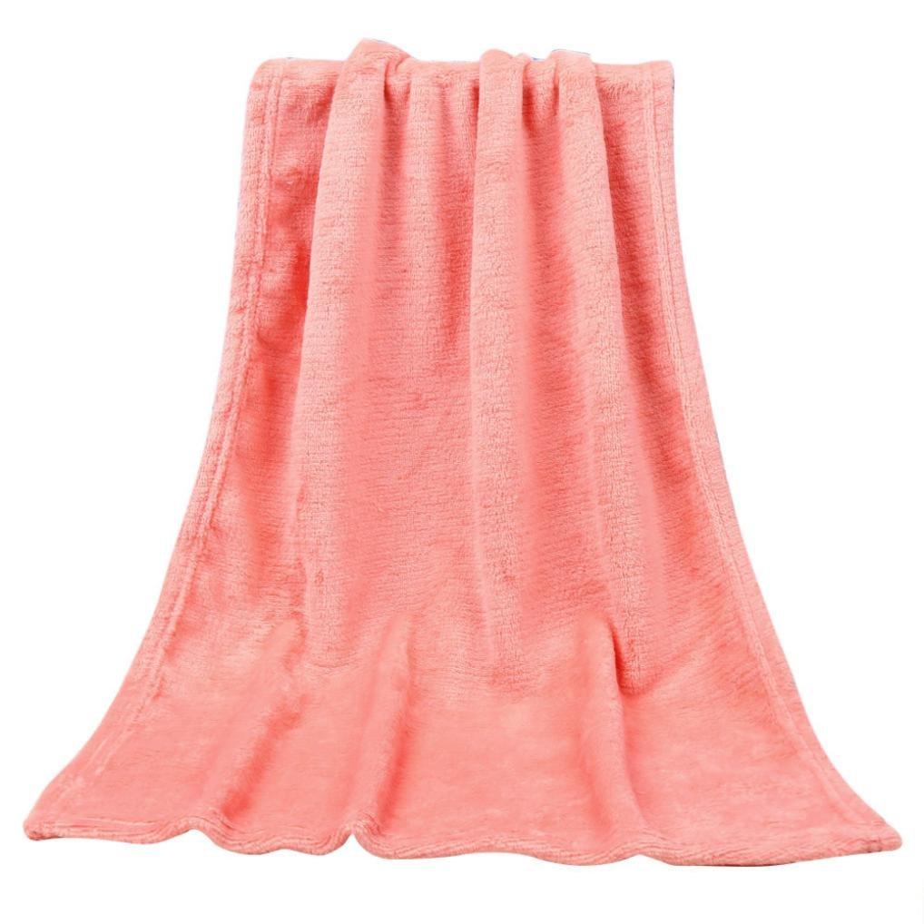 Voberry Super Soft Throw Kids Blanket Warm Coral Plaid Blankets Flannel - 19.69'' x 27.56'' / 50 x 70cm (19.69'' x 27.56'' / 50 x 70cm, Beige)