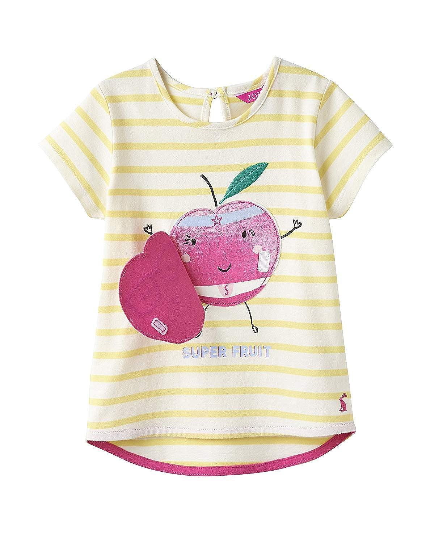 Joules Girls Cora Applique Jersey Top Shirt 3 12 Yr in CREAM PINK STRIPE