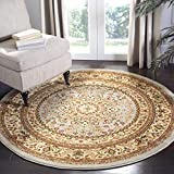 "Safavieh Lyndhurst Collection LNH213G Traditional Oriental Medallion Grey and Beige Round Area Rug (5'3"" Diameter)"