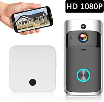 Securome Smart HD 1080P Videoportero inalámbrico WI-FI ...