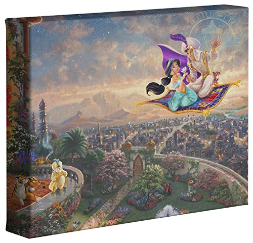 Thomas Kinkade Disney's Aladdin 8 x 10 Gallery Wrapped Canvas