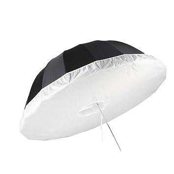 Selens 165cm Profesional Paño Tela de Luz Suave de Paraguas Difusor para 16 Varillas Negro /