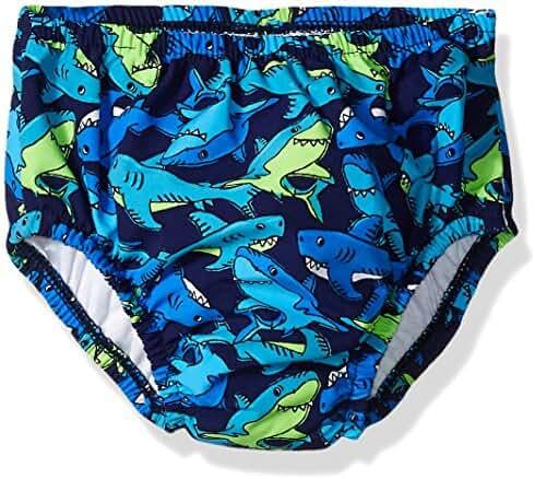 Swim Time Baby Boys' Funny Shark Reusable Swim Diaper with Side Snaps