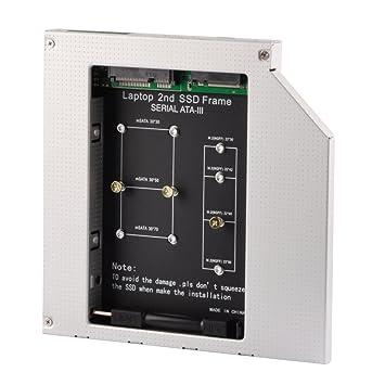 ehz-shop SATA 2 nd SSD disco duro Caddy Caja de 12,7 mm para mSATA ...