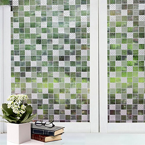 super1798 Decorative Privacy Frosted Window Glass Film Sticker Home Room Waterproof Decal - 10#