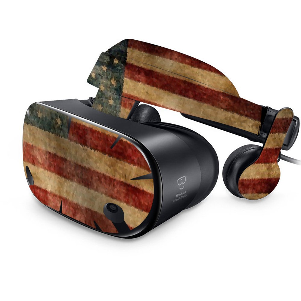 MightySkins Skin For Samsung Odyssey VR - Vintage Flag   Protective, Durable, and Unique Vinyl Decal wrap cover   Easy To Apply, Remove, and Change Styles   Made in the USA