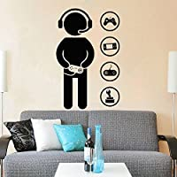 Gamer Wall Decal Vinyl Sticker Decals Joystick Game Controllers Gaming Video Game Boy Room Decor Bedroom Men Gift Nursery Dorm Gamer Gifts Decor ZX127