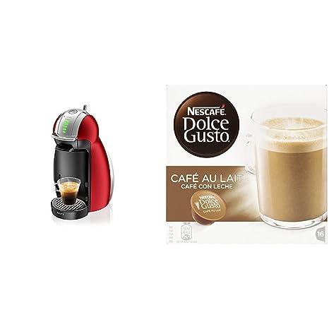 Krups Genio Rojo KP1605 - Cafetera Nestlé Dolce Gusto sistema de cápsulas automáticas 15 bares de presión ...