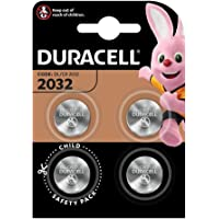 Duracell 2032 Lithium Coin Battery 4-Pieces, 3.0V