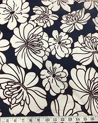 A.S Flowers Print - Egyptian Cotton Fine Quality Fabric From Italy-SUMMER IN TUSCANY- Sell by the Yard