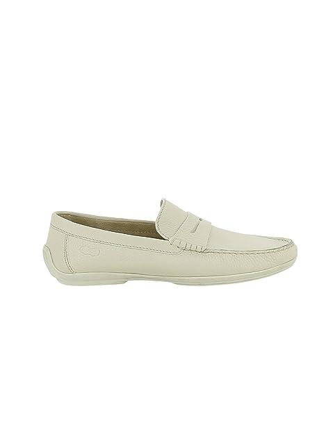LONGHI - Mocasines para Hombre Blanco Weiß IT - Marke Größe, Color Blanco, Talla 44 IT - Marke Größe 10: Amazon.es: Zapatos y complementos