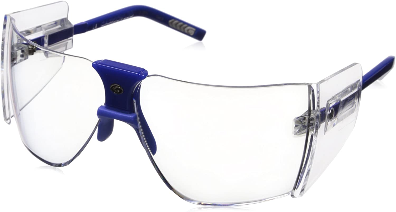 Gargoyles Performance Eyewear Classic Polycarbonate Safety Glasses, Blue Frame/Clear Lenses