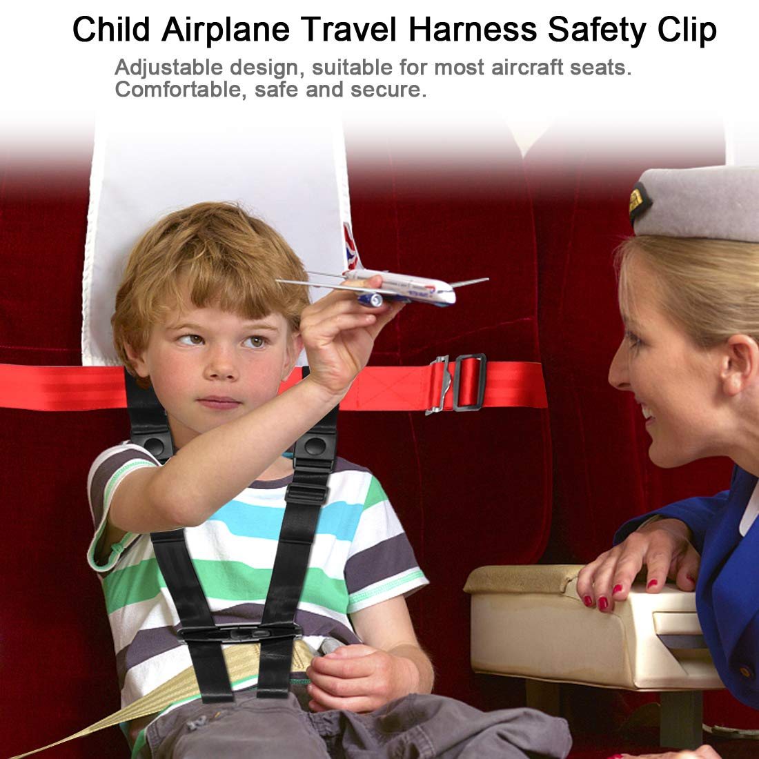 Child Airplane Travel Harness Safety Clip Strap Restraint System for Baby, Toddlers & Kids- for Airplane Travel Use Only by Together-life (Image #4)