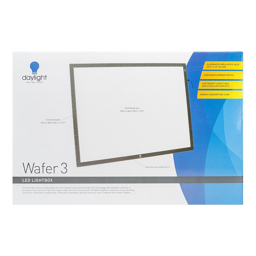 Daylight Wafer 3 LED Lightbox, 18X23.5 inches, Black U35020