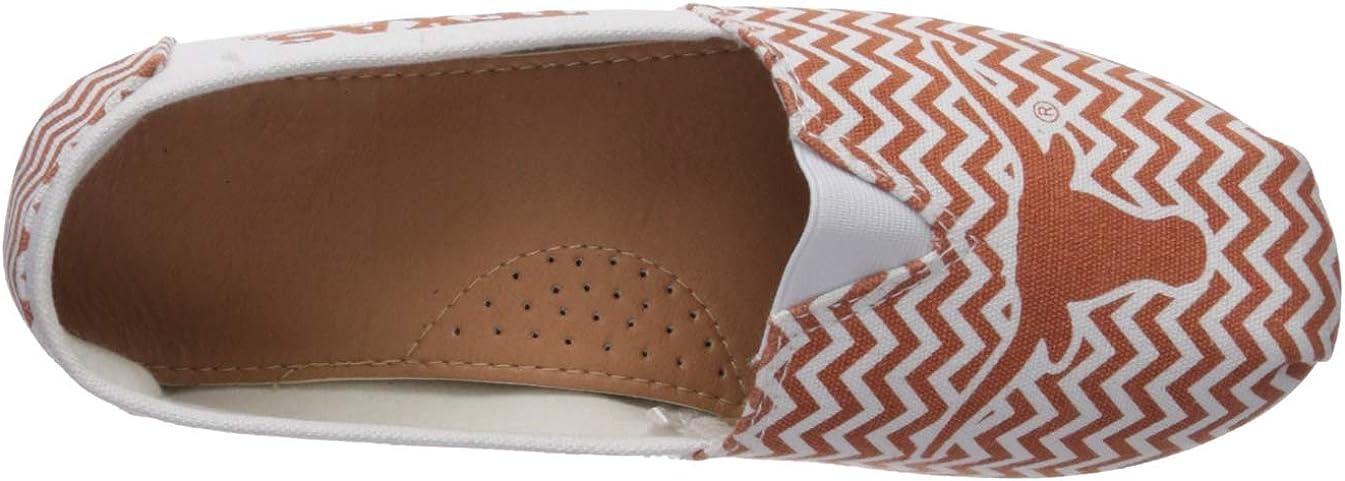 Womens FOCO NCAA Unisex-Adult NCAA Chevron Canvas Stripe Shoe
