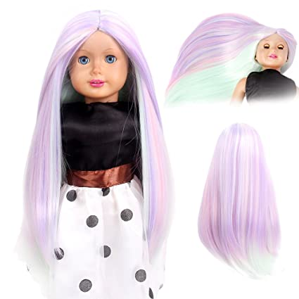 stfantasy American Girl muñeca pelucas largo recto Ombre ...