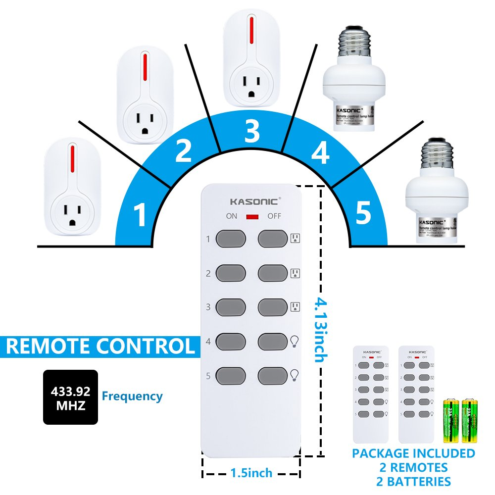 Wireless Remote Control Outlet Kasonic Smart Home For A House Wiring Needed Multi Purpose Combo Set 3 Electrical