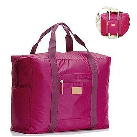 jooks viaje bolso plegable bolsa de viaje equipaje de mano ligero equipaje maleta ropa bolsa de almacenamiento Ideal para Camping y gimnasio Purplish ...