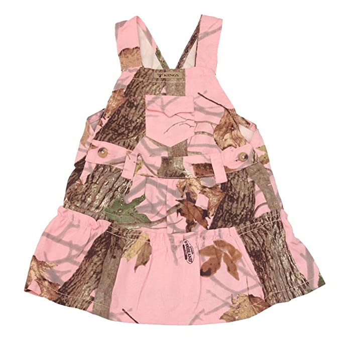 Camouflage Infant Toddler Baby Girl Pink Camo Cotton Ranger Bib Overall