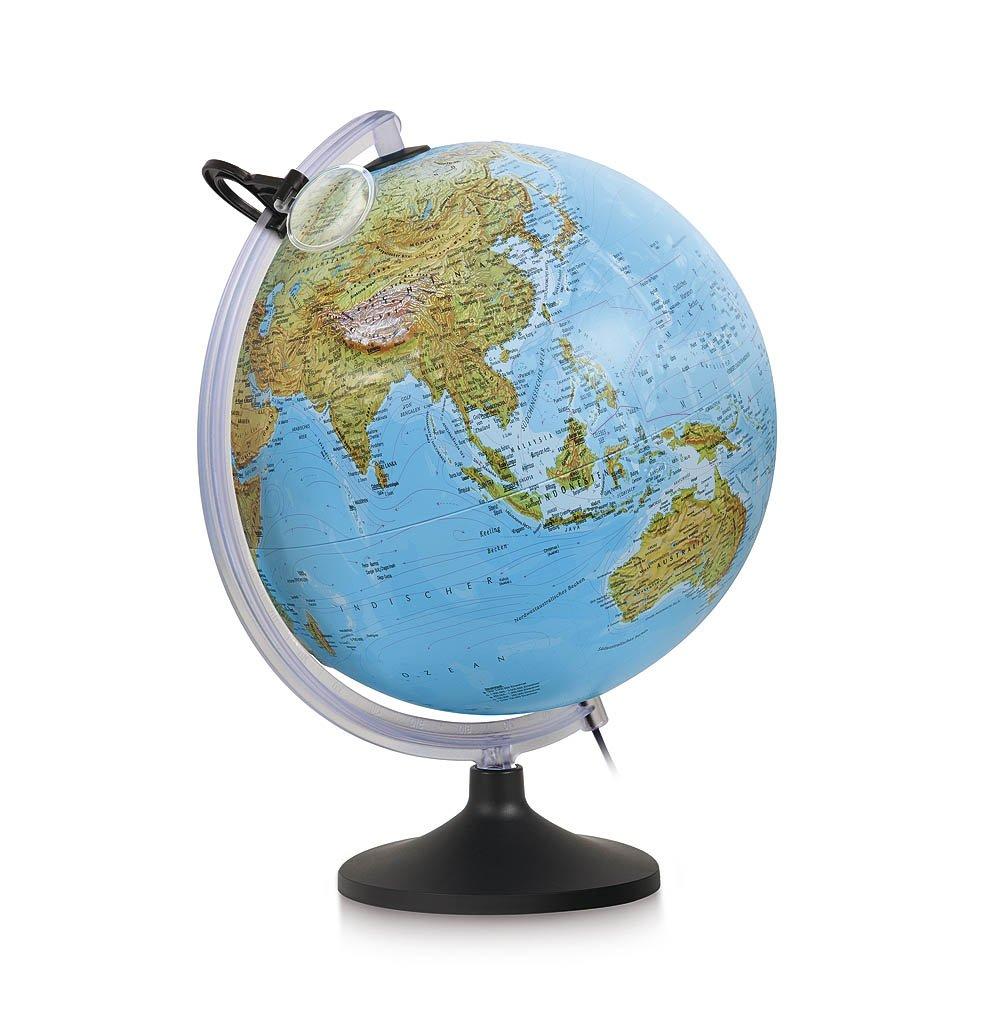 Nova Rico Relief Globe 30 cm Illuminated with Magnifier 0333URFGITLNTL46