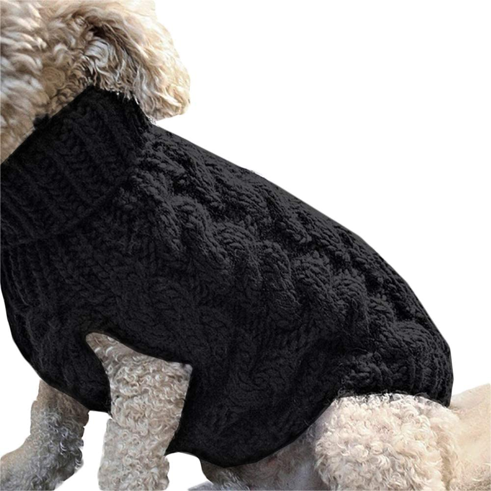 ZZMUK Dog Sweater Knitting Patterns,Pet Cable Knit Winter Coat Apparel Puppy Warm Jumper Cat Twist Striped Vest Clothes Outerwear for Cold Weather