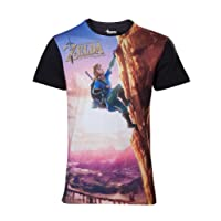 The Legend of Zelda Breath of The Wild - All Over Link Climbin T-Shirt Multicolour