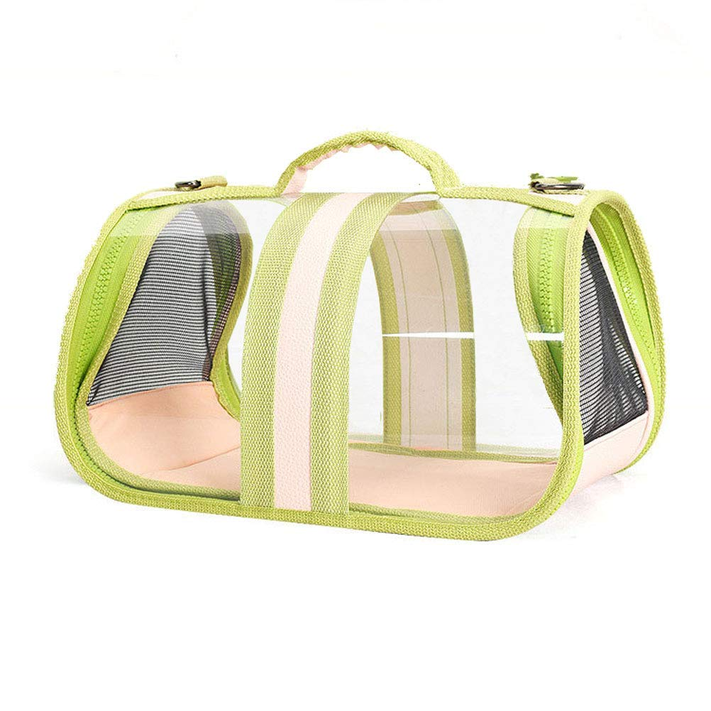 GREEN Pet Travel Carrier Pet Sling Carrier for Small Cats Dogs Tote Handbag for Pets Fit for Traveling Hiking Camping Ourtdoor Pet Bag (color   Green)