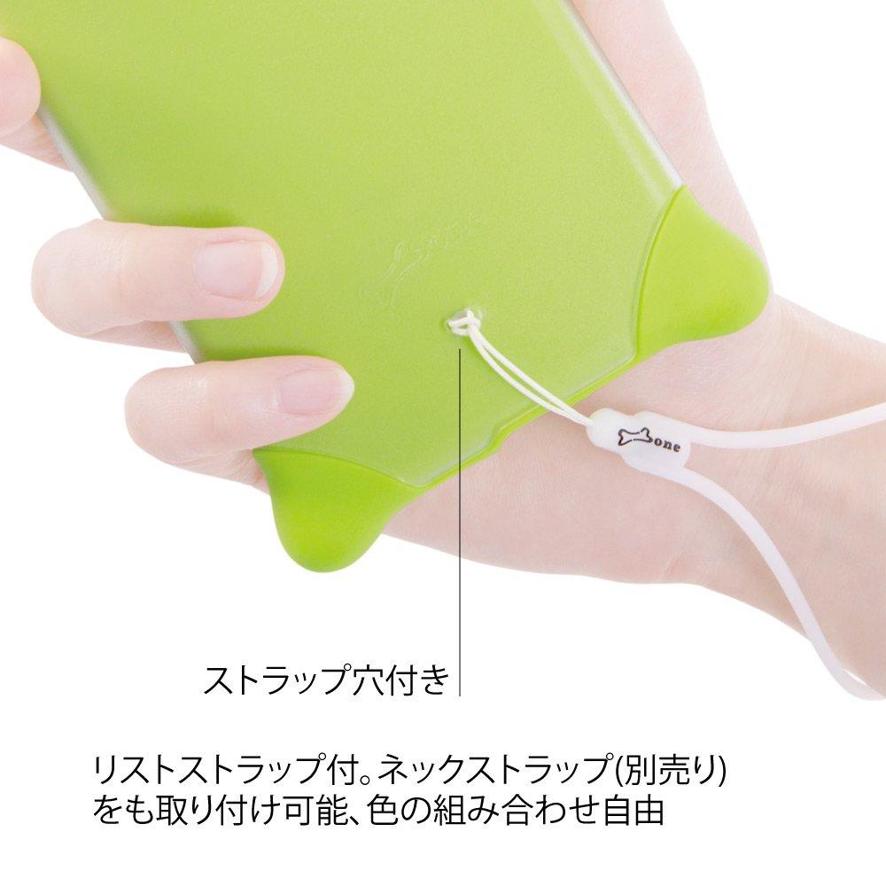 cd0ee0e04f Amazon   BoneCollection ディズニー マイク Phone Bubble 7/8 スマホケース ストラップ付き シリコン素材 2層式カバー  (ブルー)   ケース・カバー 通販