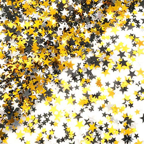 Black And Gold Glitter (Black Gold Party Twinkle Stars Table Confetti - Glitter Sequins Confetti Bachelorette Wedding Bridal Shower Baby Shower Birthday Graduation Party Sprinkles Decorations,)