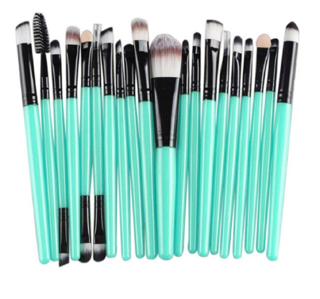 Teal/Black 20 Piece Makeup Brush Set