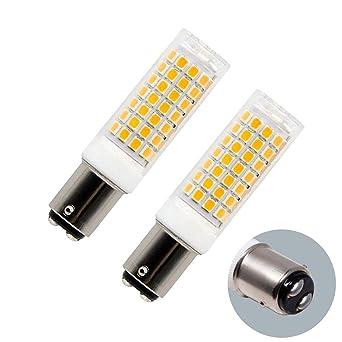 Ba15d Bombilla LED regulable 7W, 75W-100W Bombillas halógenas de reemplazo, base de