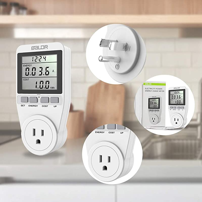 BALDR US Electricity Monitor, Power Energy Usage Meter, Kill A Watt